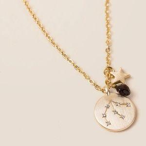 Aquarius Zodiac Charm Necklace Constellation